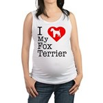 Fox-Terrier Maternity Tank Top