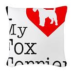 Fox-Terrier Woven Throw Pillow