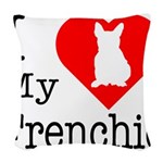 Frenchie Woven Throw Pillow