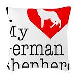 German-Shepherd Woven Throw Pillow