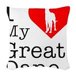 Great-Dane Woven Throw Pillow