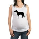 Greyhound Christmas or Holiday Silhouette Maternit