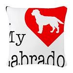 Labrador Woven Throw Pillow