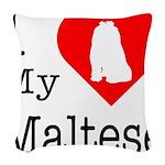 Maltese Woven Throw Pillow