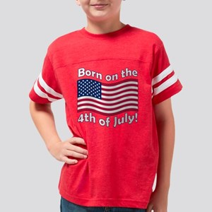 born on the 4th_dark Youth Football Shirt