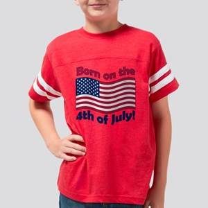 born on the 4th_light Youth Football Shirt