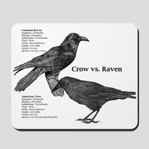 Crow vs. Raven - Mousepad