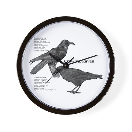 Crow vs. Raven - Wall Clock