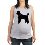 Poodle Silhouette Maternity Tank Top