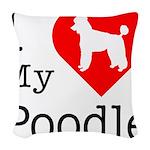 Poodle Woven Throw Pillow