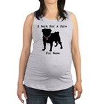 Pug Personalizable Breast Cancer Maternity Tank To