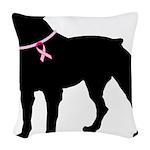 rottwiler Woven Throw Pillow