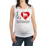 Rottweiler Maternity Tank Top