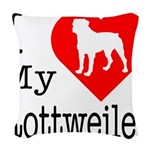 Rottweiler Woven Throw Pillow