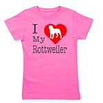 Rottweiler Girl's Tee