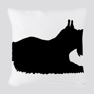 Schnauzer Woven Throw Pillow