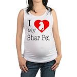 Shar-Pei Maternity Tank Top