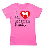 Siberian-Husky Girl's Tee