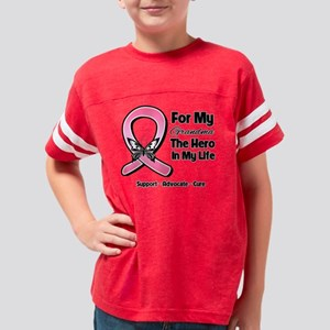 Grandma Breast Cancer Youth Football Shirt