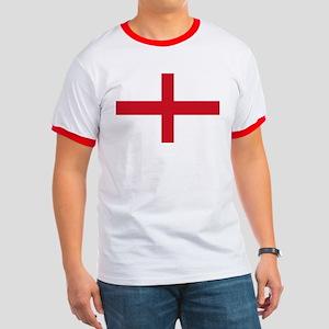 Saint George Cross flagwear Ringer T
