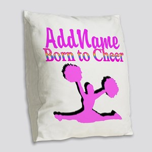 TOP CHEERLEADER Burlap Throw Pillow