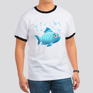 Grumpy Fish Cartoon T-Shirt