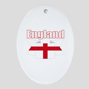 St George Cross England flag Oval Ornament