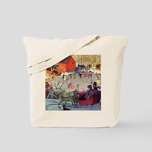 Vintage Winter Romance Tote Bag
