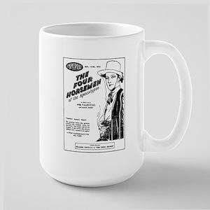 Rudolph Valentino Four Horsemen Large Mug