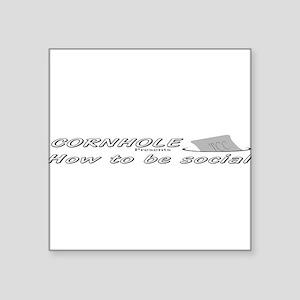 cornhole social Sticker