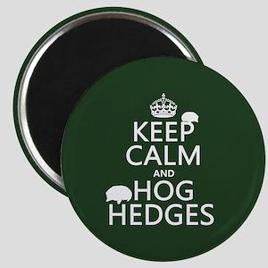 Keep Calm and Hog Hedges (hedgehogs) Magnet