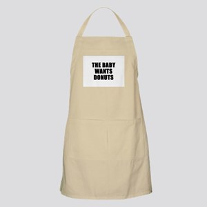 The baby wants donuts BBQ Apron