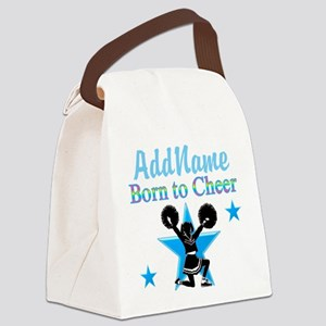 #1 CHEERLEADER Canvas Lunch Bag