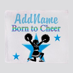 #1 CHEERLEADER Throw Blanket