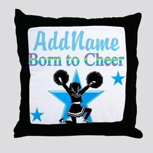 #1 CHEERLEADER Throw Pillow