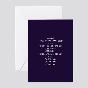 Keep Calm and HTML Greeting Card