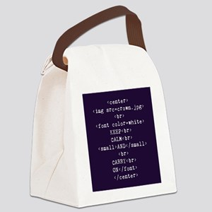 Keep Calm and HTML Canvas Lunch Bag