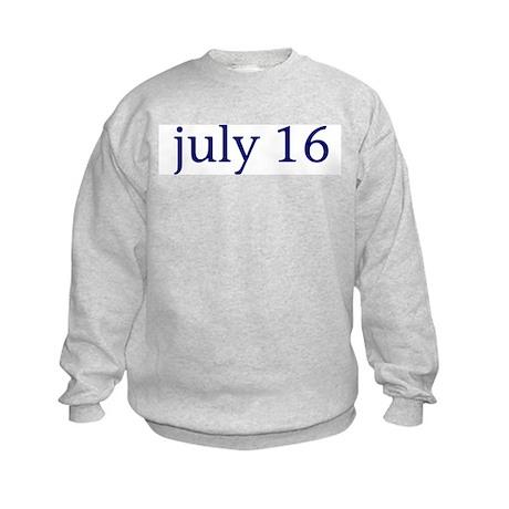 July 16 Kids Sweatshirt