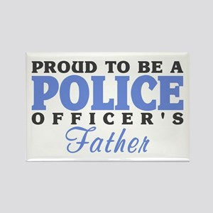 Officer's Father Rectangle Magnet