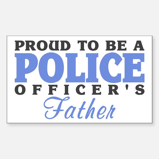Officer's Father Rectangle Decal