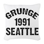 SEATTLE 1991 GRUNGE Woven Throw Pillow