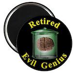 """Retired Evil Genius 2.25"""" Magnet (10 pack)"""