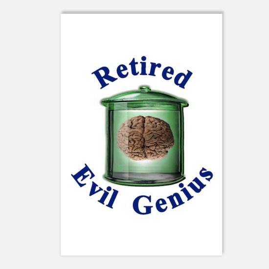 Retired Evil Genius  Postcards (Package of 8)