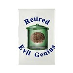 Retired Evil Genius Rectangle Magnet (10 pack)