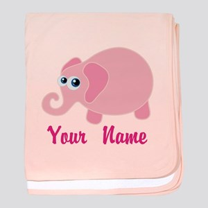 Personalized Baby Elephant baby blanket
