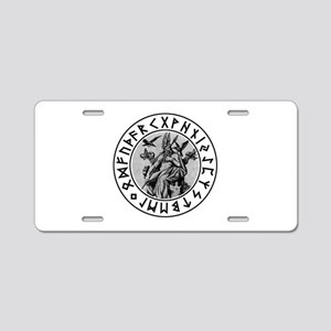 Odin Rune Shield Aluminum License Plate