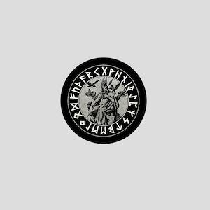 Odin Rune Shield Mini Button