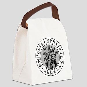 Odin Rune Shield Canvas Lunch Bag