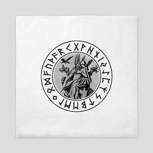 Odin Rune Shield Queen Duvet