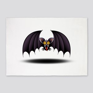 Bat Cartoon 5'x7'Area Rug